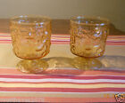 Anchor Hocking Lot 2  Milano LIDO Amber OLD FASHION glasses footed BUMPS LumpS