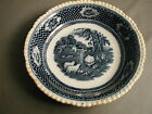 VINTAGE FLOW BLUE IRONSTONE CHINA BOWL - OLD ENGLISH RURAL SCENES - W ADAMS - 8