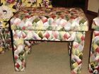 HOLLYWOOD REGENCY BENCHES LEAF MOTIF DOUBLE CUSHION LOVELY PAIR DOROTHY DRAPER
