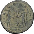 Carinus receives Victory from his father Carus Antioch Ancient Roman Coin i46996