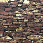 Elements Dark Brown Rock Wall with Gold Glitter Cotton Fabric by the Yard