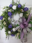 LOVELY LAVENDER Spring Summer Easter Mothers Day Gift Door Wreath Free Shipping