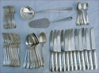 French Louis XV Style Dinner Table Flatware Set 58 pcs Silverplate 1910