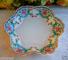 Gorgeous Antique Minton Porcelain Bowl Aqua Green Scrolls Floral B833