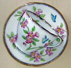 OLDER ROYAL STANDARD ENGLAND CUP &  SAUCER HAND PAINTED FLOWERS & BUTTERFLY