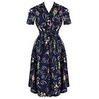The Seamstress Of Bloomsbury 1942 Vintage 40s WW2 Navy Floral Tea Dress