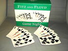 2005 Fitz And Floyd Game Night SNACK PLATE SET Clubs Spades NR