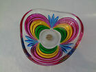 Murano Venetian Cut Glass Dish Bowl Colored Cut Glass Pattern Italy A MUST HAVE!