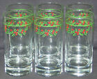 6 Vintage Corning Corelle Holly Days Christmas Heavy Glasses Tumblers