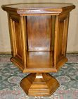 VINTAGE Brandt Cherry 2 Tiered End/Side/Lamp Hexagonal Table/ Open Cabinet