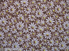 2 Yards 100% Cotton Quilting Sewing Fabric, Daisy 'Brown'  Free US Shipping