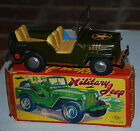 Vintage Nomura TN Tin Friction Military Jeep / Army -Japan - In Original Box