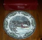 Johnson Brothers Friendly Village 4 School House Dinner Plates NIB Brown White