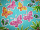 NEW~CHARTER~1 YD Baby BLUE Textured BUTTERFLIES Cotton QUILT Sewing FABRIC