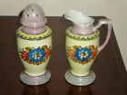 VINTAGE HAND PAINTED LUSTERWARE PITCHER AND SPICE JAR MADE IN JAPAN