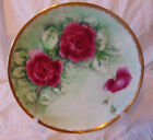Beautiful Handpainted Roses & Gilt Rim Porcelain Plate 10 inch Arzberg Germany