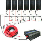 300W 450W 600W 750W 900Watt 12KW grid tie complete kit for RV Boat Home system