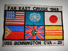 Vietnam War US Navy USS BENNINGTON CVS-20 FAR EAST CRUISE 1968 Patch