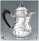 Majestic Antique French Sterling Silver Louis XV Chocolate Pot 1155 gr./ 37t ozs