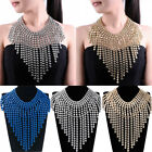 New Fashion Chunky Chain Tassels Cluster Choker Statement Pendant Bib Necklace