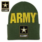 Embroidered U.S. Army Strong Green Star Logo Beanie Knit Stocking Watch Cap Hat