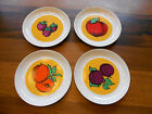 SET of 4 BLOCK ESPANA BLANCO BIDASOA FRUIT Design Salad or Dessert PLATES SPAIN