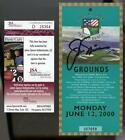 JACK NICKLAUS AUTO JSA Cert 100th U.S. Open Pebble Beach Ticket 6 12 2000