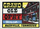 VINTAGE GRAND OLE OPRY HOUSE NASHVILLE TENNESSEE SOUVENIR TRAVEL LUGGAGE DECAL