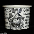 Early Transfer Printed Quack Cure All Ointment Pot Sore Breasts c1880 Holloway