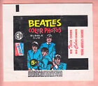 1964 TOPPS BEATLES COLOR PHOTOS 2 DIFF. WRAPPER VARIATIONS NM