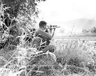 VIETNAM WAR PHOTO US MARINE CORPS SNIPER OPERATION HARVEST MOON 1965 8x10 #21599