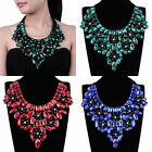 Fashion Jewelry Chain Crystal Glass Charm Choker Statement Pendant Bib Necklace