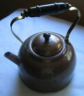 Vintage Copper 2QT Tea Kettle - Tin Lined / Black Wood Handle and Knob