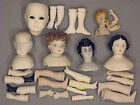 Vintage Porcelain Bisque Doll Parts 28 Pieces Of Heads, Legs And Arms