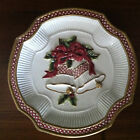 Fitz and Floyd Essentials Holiday Bells Christmas Cookie Plate 8""