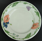 Villeroy Boch Chop Plate Serving Platter Round Amapola Coral Blue Poppy Germany