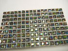 24 vintage swarovski crystal cube shape beads6mm vitrail medium 5601