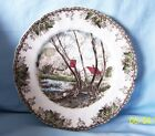Johnson Bros. Friendly Village Willow The Brook Collectible White Dinner Plate