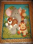 Jungle Babies Nursery QUILT Panel Cotton Fabric Patty Reed