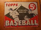 Vintage Retro Style Topps Baseball Cards Rustic Tin Sign Advertising Decor - NEW