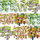 Wholesale 100 Ribbon Satin Rose Flower Leaves Wedding Decor Bow Appliques Sewing