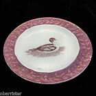 Creamware Childs Plate DUCK Pink Lustre Moulded Rim Staffordshire Transfer c1840