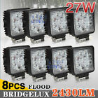 8x 27W LED WORK FLOOD LIGHT OFFROAD REVERSING LAMP UTE BOAT ATV BAR 12V 24V 4WD
