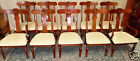 VINTAGE Ethan Allen Cherry British Classics Upholstered Dining Chairs,Set of 10!