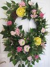 MAY FLOWERS Wreath Spring Summer Mother's Day Floral Door Wreath Free Shipping