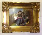 JWK Bavaria-West Germany-Josef Kuba Porcelain Wall Plaque Painting Ornate Gold