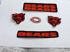 Chicago Bears 5 Pc Fabric Iron On Sport Logo Patch Set