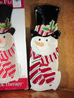 Fitz & Floyd SNOWMAN SERVER Snack Therapy Plate / Wall Hanging Christmas Holiday