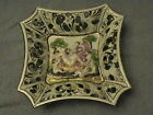 antique fragile rare old dish Capodimote #984 made in Italy,hand painted vtg