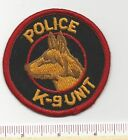 Old Generic K9 Unit Canine Dog Law Enforcement Sheriff Police Patch - 1970